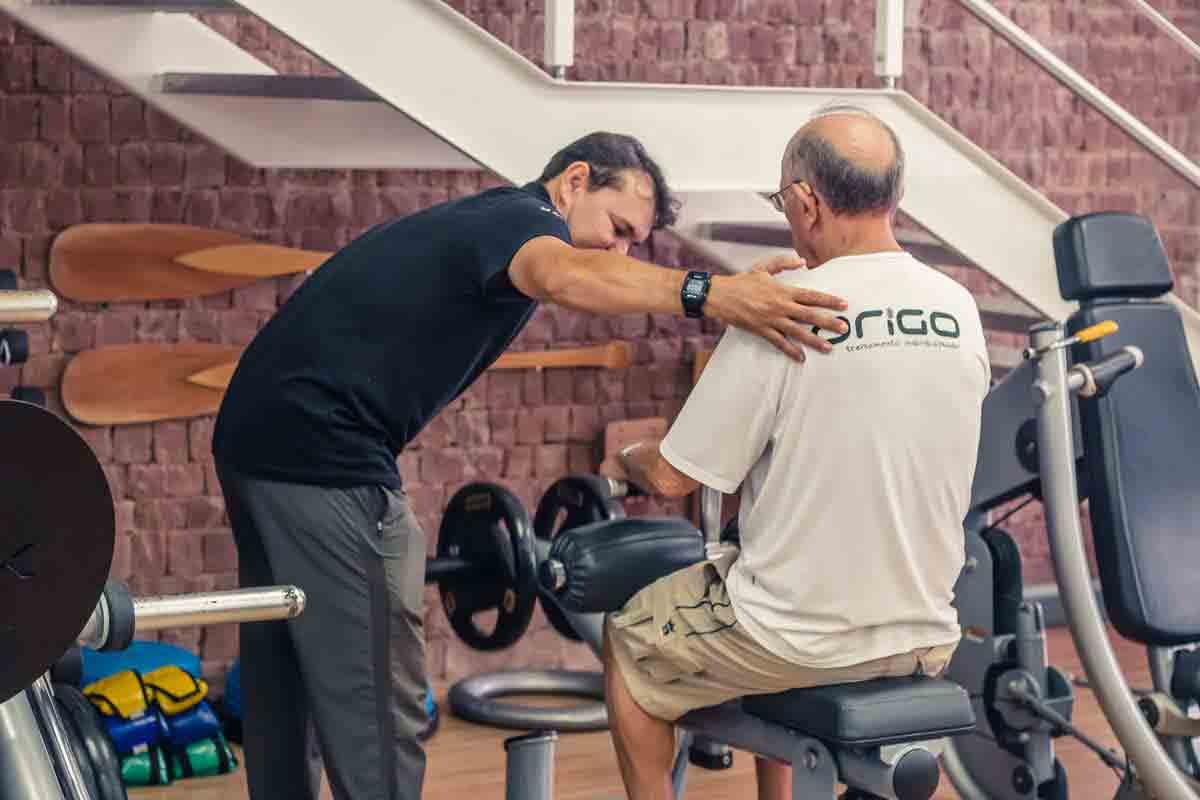 Tarciso Aragão (Treinador) e José Mário (Aluno) - Treinamento Resistido